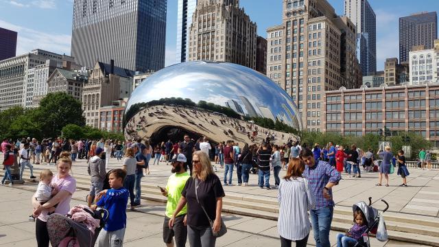 Kunstwerk Chicago Reiseblog Reisebericht