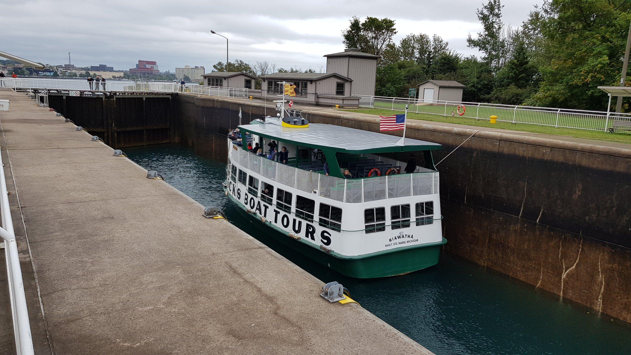 Bootstour alter Kanal Sault Ste.Marie