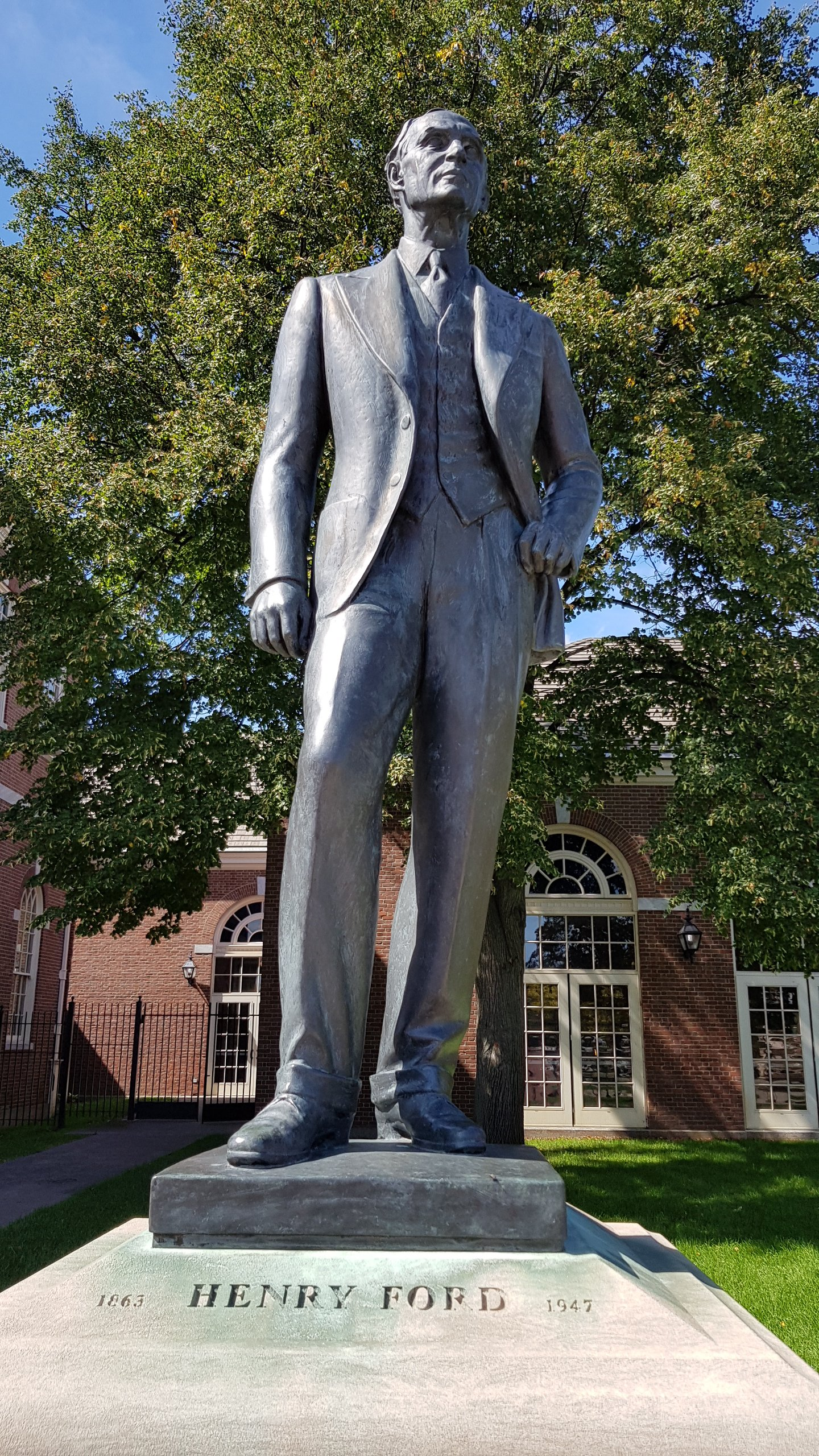 Henry Ford Statue in Greenfield Village Detroit